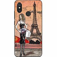 Силиконовый чехол для Xiaomi Mi 8 с картинкой Париж