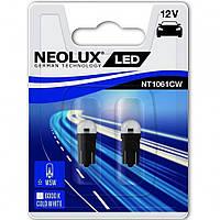 """Светодиодные лампы """"NeoLux"""" W5W LED (WHITE)(12V) 6000К"""