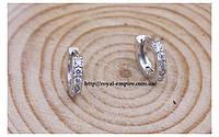 """Серьги """"Мона"""" покрытие серебро 925 проба, с кристаллами."""