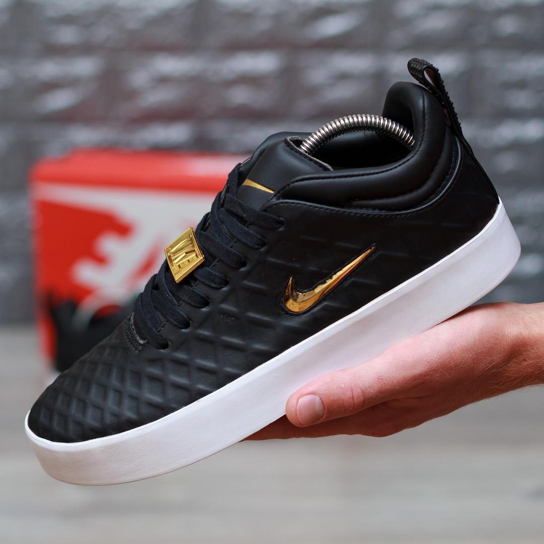 Мужские кроссовки в стиле Nike Tiempo Vetta (black), Реплика ААА