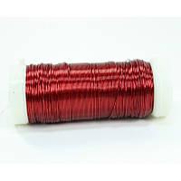 Проволока (бульонка)  0.35 мм 73 метра красная