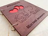 Дитячий фотоальбом з дерев'яна яною обкладинкою ручної роботи, фото 2