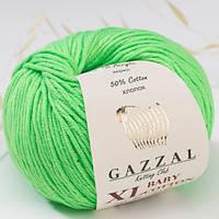 Пряжа Gazzal Baby Cotton XL Салатовый