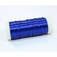 Проволока (бульонка)  0.35 мм 73 метра синяя