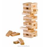 Настольная игра Vega головоломка Башня Дженга 48 блоков, фото 4