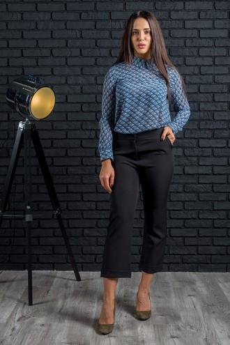 Укороченные брюки Браво черный (M-XL)