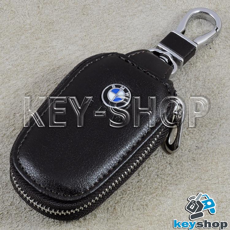 2c08a0d6b62e3 Ключница карманная (кожаная, черный, с карабином, на молнии, с кольцом)