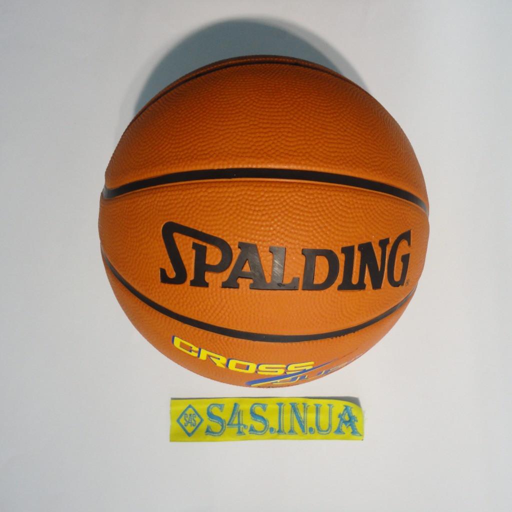 Мяч баскетбольный резиновый №7 SPALDING CROSS OVER  Реплика