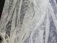 Тюль гардины мелкая вышивка