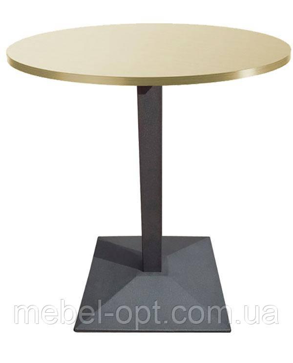 База опора стола Ницца чугунная 430х430 мм, высота 725 мм, цвет черный, для бара, кафе, ресторана