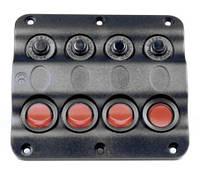 Панель на 4 переключателя 10024-BK, 110х100мм