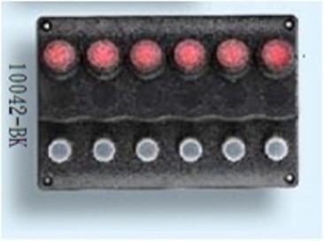 Панель на 6 переключателей 10042-BK, 160х107мм