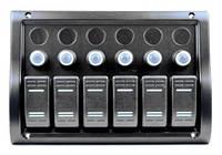 Панель на 6 переключателей, 1 под сигнал 10016-BK