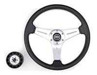 Рулевое колесо 35 см Pretech HD-5125D 350мм серебро