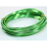 Проволока 2 мм для рукоделия 10 метров зеленая