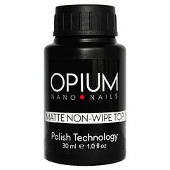 Матовий топ без липкого слою Matte non-wipe top OPIUM/ROKS 30 мл