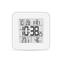 Термогигрометр с часами и будильником Т-19 (влажность + температура)