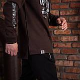"""Спортивна кофта для чоловіків з капюшоном коричнева """"DIAS"""", фото 2"""