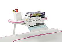 Парта растущая Amare Pink + полка для книг SS16 Pink, фото 3