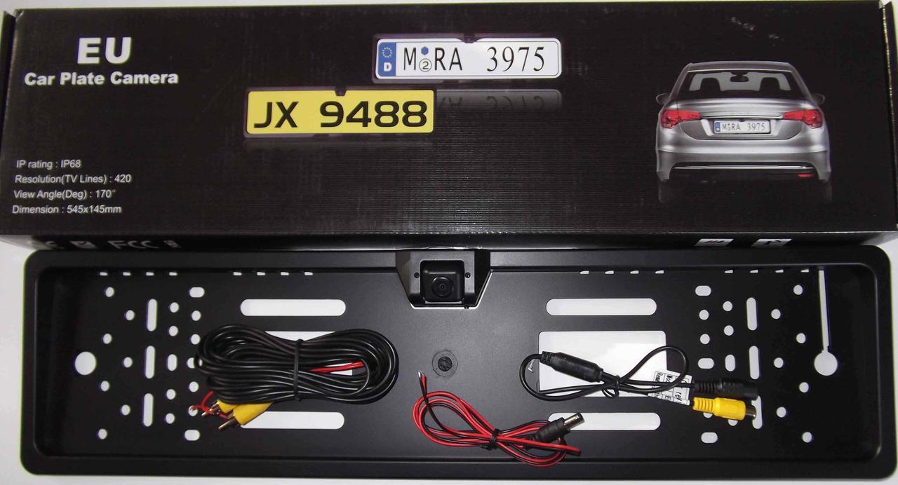 Камера заднего вида в рамке номера JX-9488( без подсветки)