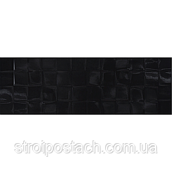 Плитка Cersanit Simple Art BLACK GLOSSY STRUCTURE CUBES