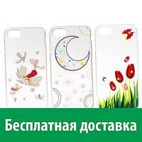 Чехол-бампер с рисунком и стразами для iPhone 7 (Айфон 7, 7с, 7 с)