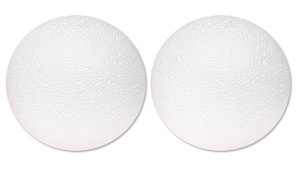 Набор пинопластовых шаров d:15см 2шт