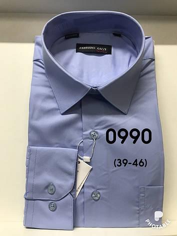 Однотонная  рубашка Ferrero Gizzi, фото 2