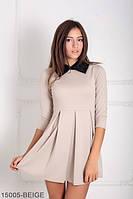 Симпатичное платье с завышенной талией, юбкой в складку и воротником Oxyria