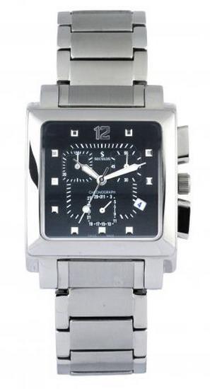 Мужские часы Seculus 4421.1.816 black, ss