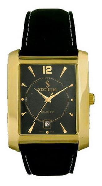 Мужские часы Seculus 4419.1.505 black ap-g, pvd, black leather