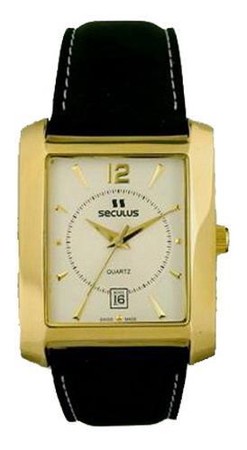 Мужские часы Seculus 4419.1.505 white ap-g, pvd, black leather
