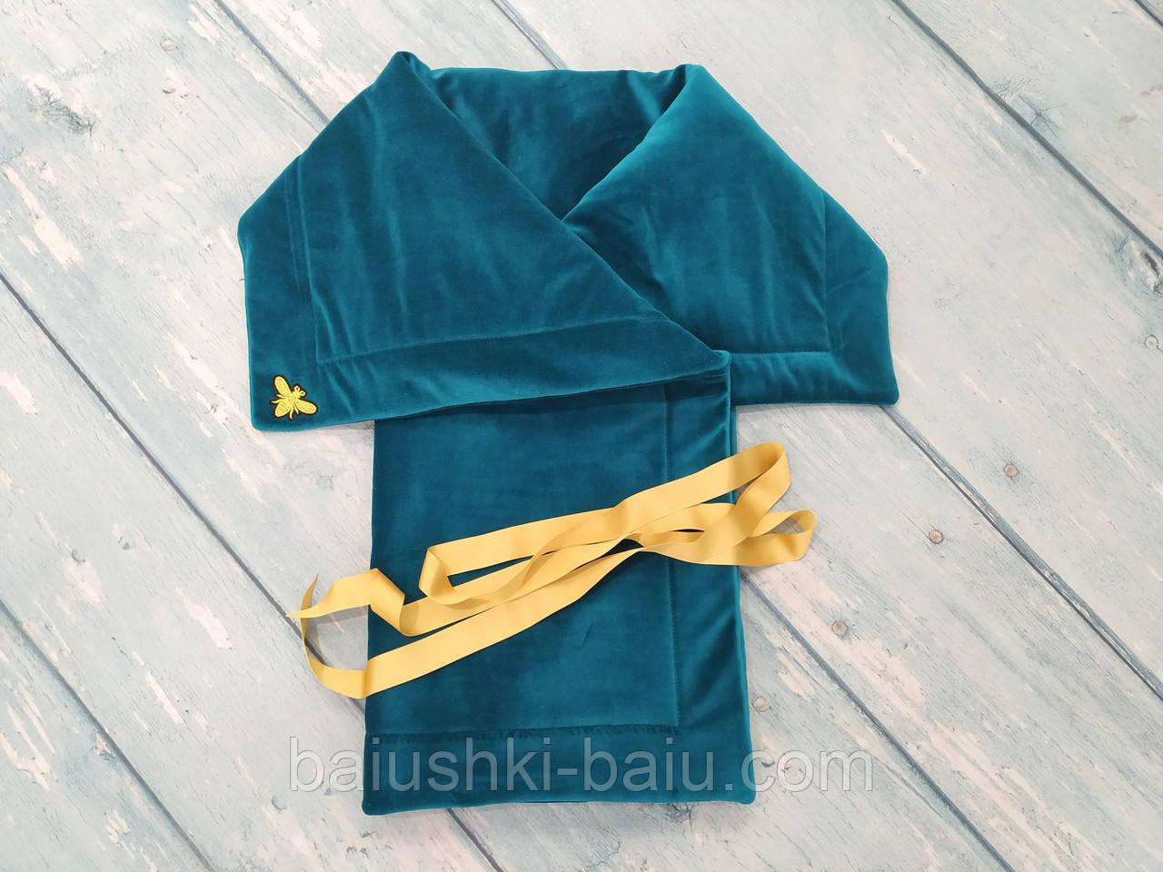 Велюровый плед конверт для новорожденного в коляску/кроватку