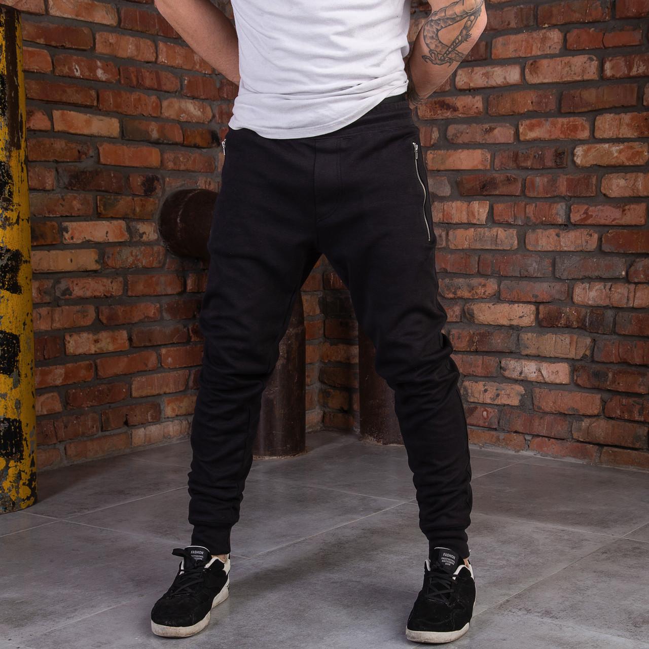 """Черные спортивные мужские штаны """"Dias"""""""