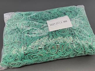 Резинки для денег Польская. 20х1,2х1,2мм. Цвет зеленый.