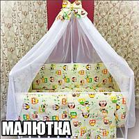 """Фирменный комплект постельного белья """"МАЛЮТКА"""" совы, фото 1"""