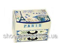 Шкатулка Париж деревянная Прованс 15х11х10см, фото 1