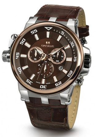 Мужские часы Seculus 4510.5.503D brown, ss-r, brown leather