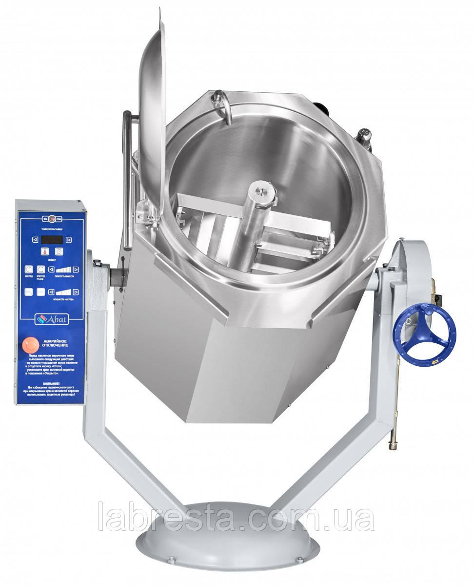 Котел пищеварочный Abat КПЭМ-100-ОМР-В (миксер, ручное опрокидывание)