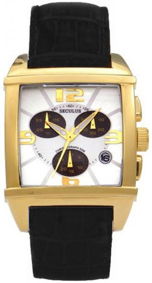 Мужские часы Seculus 4461.2.816 white,pvd black