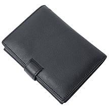 Мужской кожаный кошелек Salfeite F503 black, фото 3