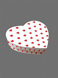 Подарочная бумажная коробка в форме Сердца 250*200*60 мм Белая