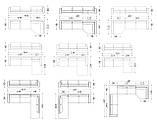 Модульный диван с глубокой посадкой LAGUNA фабрика ALBERTA (Италия), фото 10