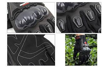 Мотоперчатки текстильные с закрытыми пальцами и протектором SCOYCO (СКИДКА НА р. L) MС09-BK OF, фото 3