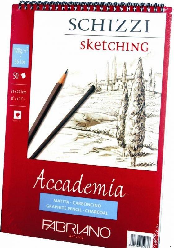 Альбом для рисования Fabriano А5 50л 120г/м2 Accademia мелкое зерно спираль 8001348150800