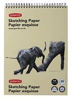 Альбом для рисования A4 Derwent Портрет 165г/м2 на спирали текстурная бумага 30л (5028252051132)