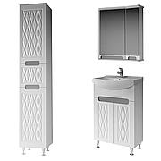 Комплект мебели для ванной комнаты Венеция 55 ( белый ) ВанЛанд