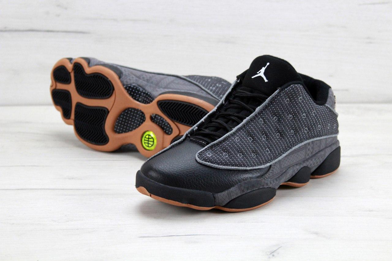 4e587a99 Баскетбольные кроссовки Nike Air Jordan 13 (в стиле Найк Аир Джордан)  черные, кожа
