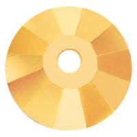 Пришивные пайетки хрустальные Preciosa (Чехия) 3 мм Crystal Aurum