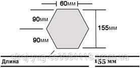 Дымчатое Окончание конька треугольного Roser Charcoal